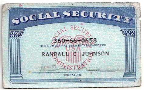 social securty card template randy god website