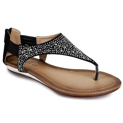 Sandal Heel Fashion Sdp 02 diamante front low heel zip back gladiator fashion sandals shoes ebay