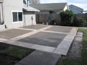 Cement Patio Design by Concrete Patios Here S A Neat Concrete Patio Design