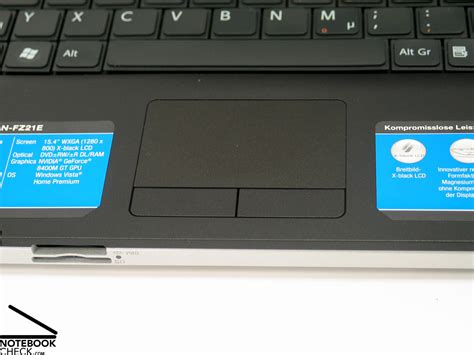 Touchpad Vaio by Test Sony Vaio Vgn Fz21e Notebook Notebookcheck Tests