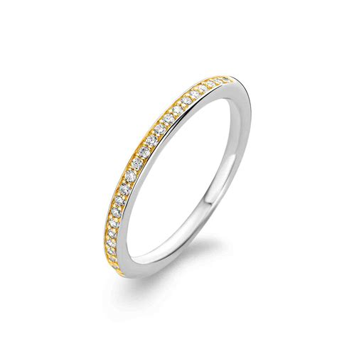 Smd Simple Stylish ti sento ring stylish gold cz stones ti sento