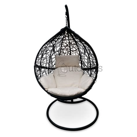 swinging ball chair outdoor hanging ball chair black white bare outdoors