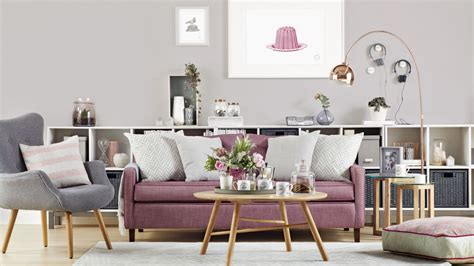 grey and pink sofa use stylish storage to restore order to your living room