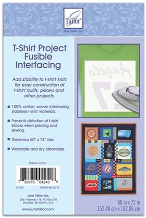 t shirt project fusible interfacing favequilts
