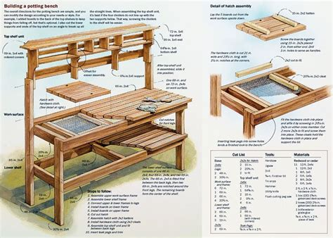 how to make your own bench build your own potting bench plans gardening pinterest