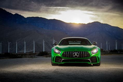 sports car 4k wallpaper mercedes amg gt r green sports cars 2018 front 4k