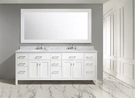 84 bathroom vanities and cabinets abuetta 84 inch white finish contemporary bathroom vanity