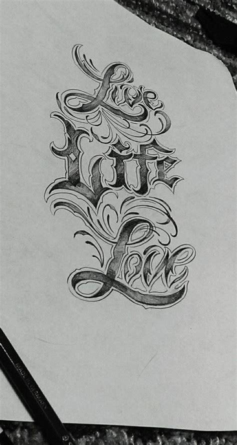 tattoo letters sketch chronic ink tattoo toronto tattoo quot live life love