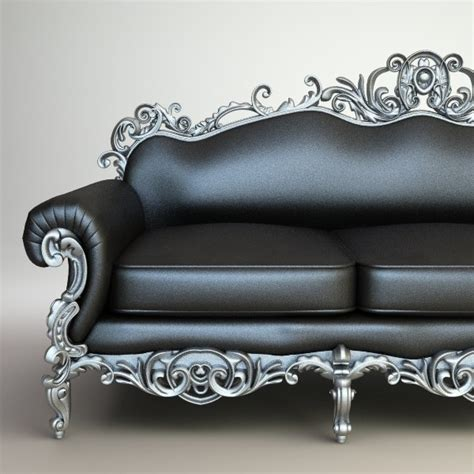 baroque couch baroque sofa interior 3d model