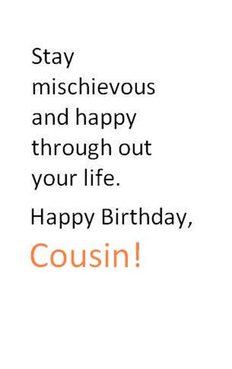 Cousins Birthday Quotes Happy Birthday Quotes For Cousins Quotesgram