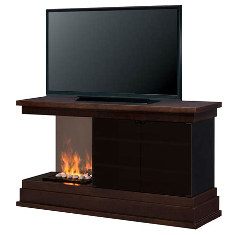 Media Consoles With Electric Fireplace by Debenham Optimyst Electric Fireplace Media Console W Rocks