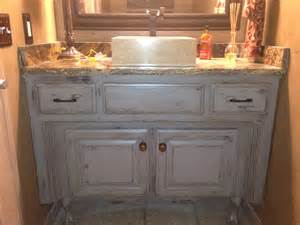 bathroom distressed bathroom vanity with undermount