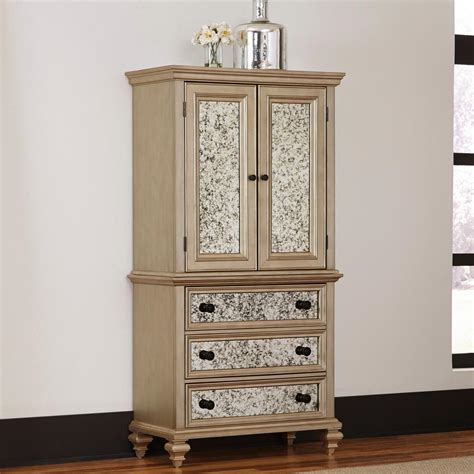 silver armoire sauder barrister salt oak armoire 418891 the home depot