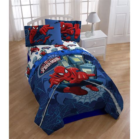 spiderman twin bed set spiderman comforter walmart com