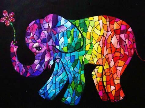 colorful elephant wallpaper colorful tribal elephant wallpaper www pixshark com