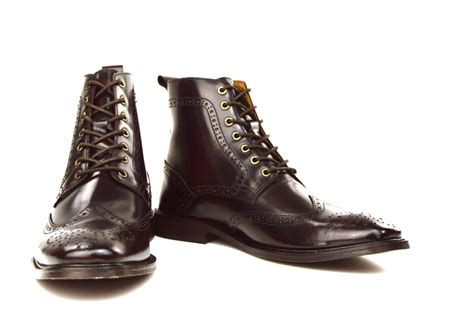 the shelby oxblood brogue boots peaky blinders