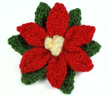 Knitted Poinsettia By Planetjune Knit