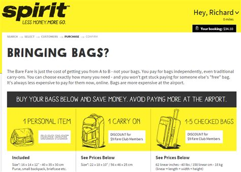 spirit baggage fees real cost of dfw bos 34 spirit ticket compared to