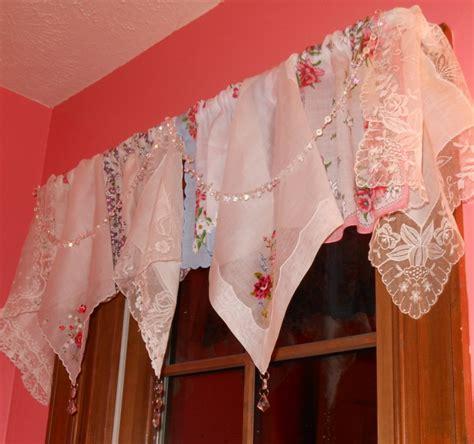 Handkerchief Valance corgis in my garden vintage handkerchief valance