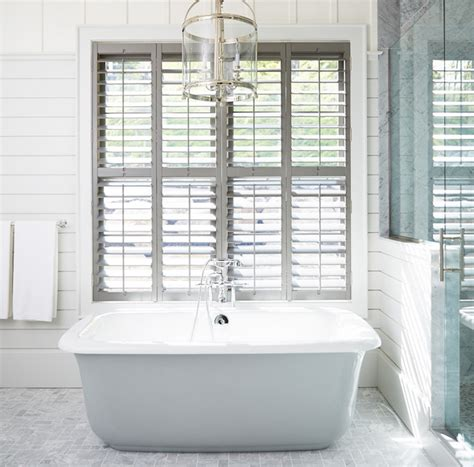 bathroom shutter gray plantation shutters cottage bathroom