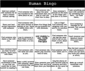 Human Bingo Template by Print Play Human Bingo C Grounded
