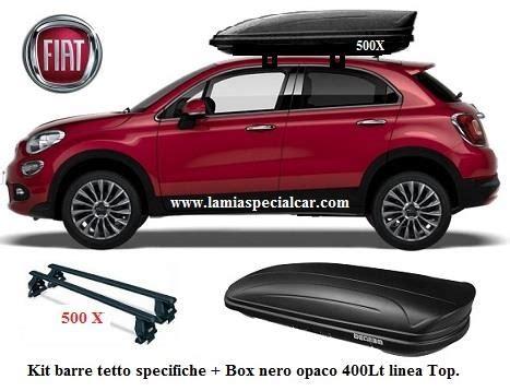 box portatutto x auto box baule portatutto 400 lt nero kit 2 barre tetto