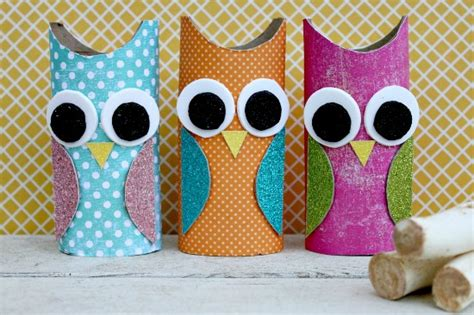 owl paper roll craft centsible