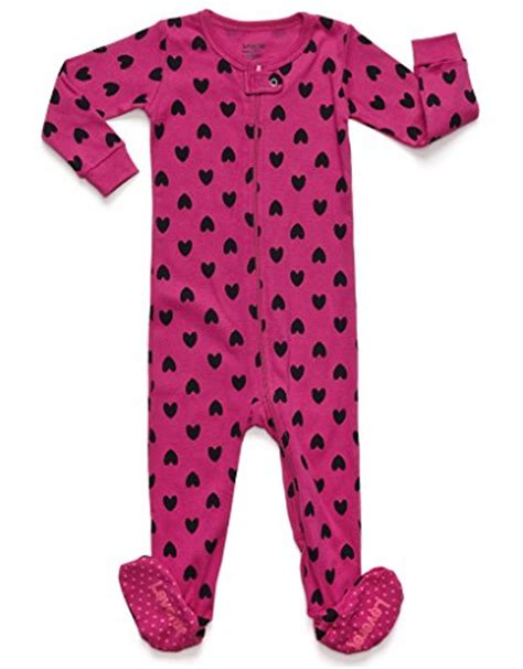 12 Month Footed Sleepers by Leveret Hearts Footed Pajama 12 18 Months Apparel