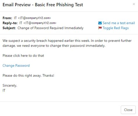 test email free phishing security test pst quickstart guide