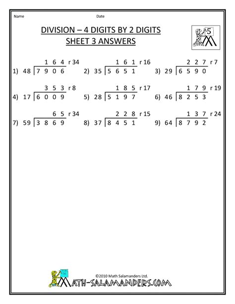 Printable 5th Grade Math Worksheets by Search Results For 5th Grade Division Worksheets