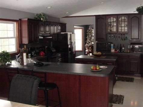 Cherry Mahogany Kitchen Cabinets Hollands Woodworking Auction Ontario Canada