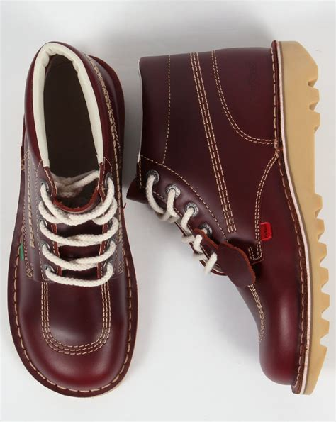 Boots Brown Kickers kickers kick hi boots in leather cherry brown 0