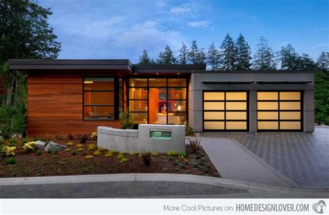 contemporary attached garage design exterior design