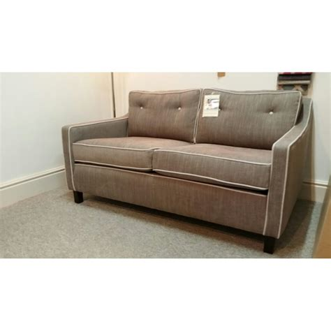 small 2 seater sofas davy small contemporary 2 seater sofa in j brown senna fabric