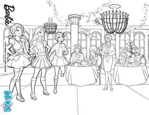 barbie school coloring page miss privet and her students coloring pages hellokids com