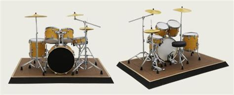 How To Make A Paper Drum Set - free pdf pattern tutorial for a really awesome