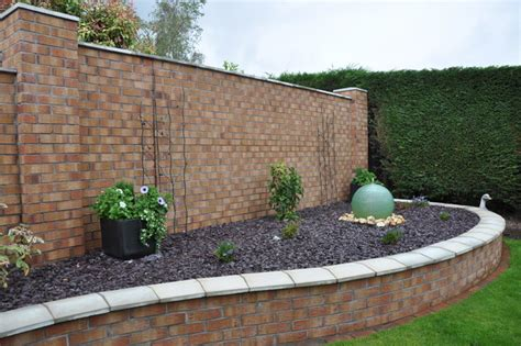 decorative brick walls garden wall constructed with decorative facing brick to match