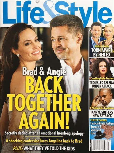 Exclusive Brangelina Threat Lifestyle Magazine by Brad Pitt Back Together Brangelina Dating