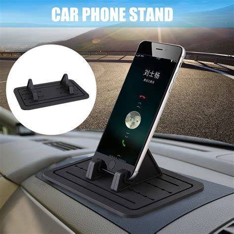 Alarm Silicon Universal universal car silicon pad dash phone holder mount dashboard stand for iphone samsung xiaomi