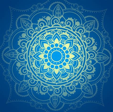 imagenes vectores azul gratis fondo azul de mandala descargar vectores gratis