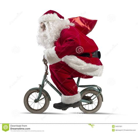 santa claus on the bike stock image image of dream