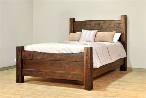 edge of the bed live edge bed ruff sawn bedroom furniture amish solid wood
