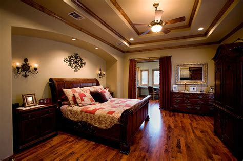 palatial two story master suite in mediterranean style sprawling tuscan ranch mediterranean bedroom other