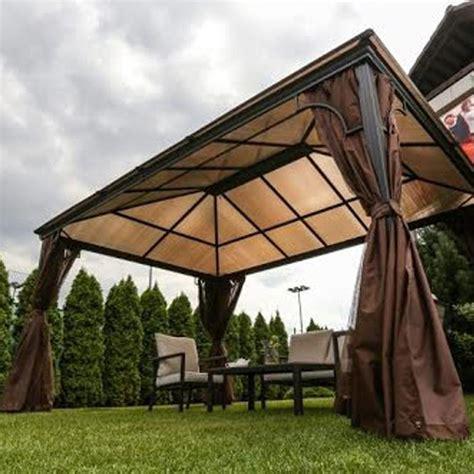 kensington courtyard polycarb roof pavilion 3m x 4 3m - Pavillon 3m