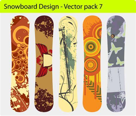 snowboard design template modern snowboard vector template design 06 vector sport