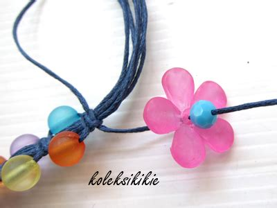 Bunga Akrilik 17 membuat gelang tali bunga akrilik aksesoris