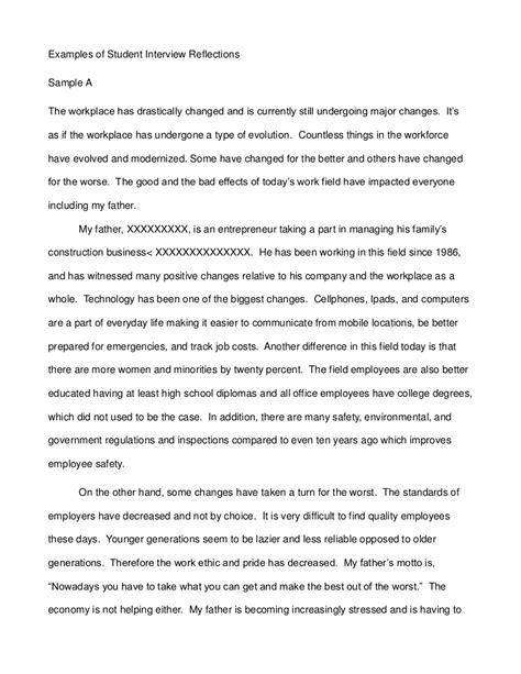 Family Business Mba Essay by Exles Of Student Reflections
