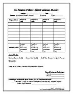 speech therapy progress report template 1000 images about slp rti freebies on level 3