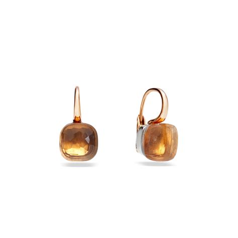pomellato nudo earrings pomellato earrings nudo in orange lyst
