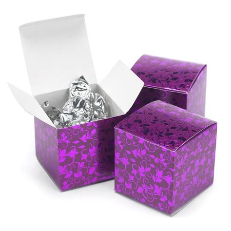 purple wedding invitations boxes foil filigree purple favor boxes invitations by dawn